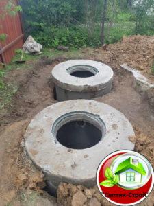 Септик из бетонных колец «под ключ» в Городище